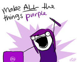 Make ALL the things purple