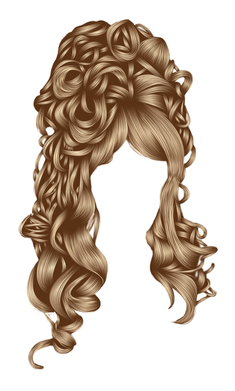 Romantic hair 1 Brown by hellonlegs
