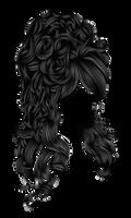 Romantic Hair 2 Black by hellonlegs