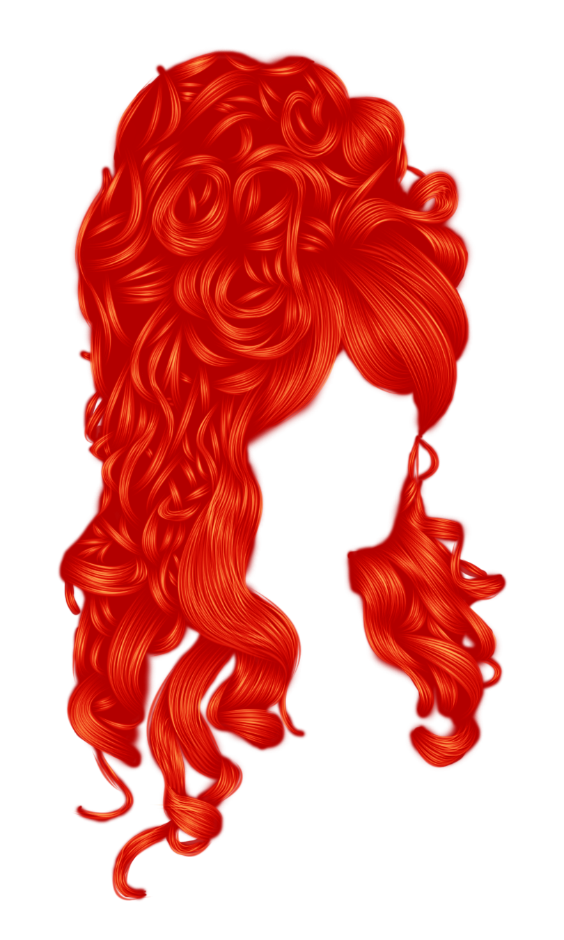 Romantic Hair 2 Red by hellonlegs