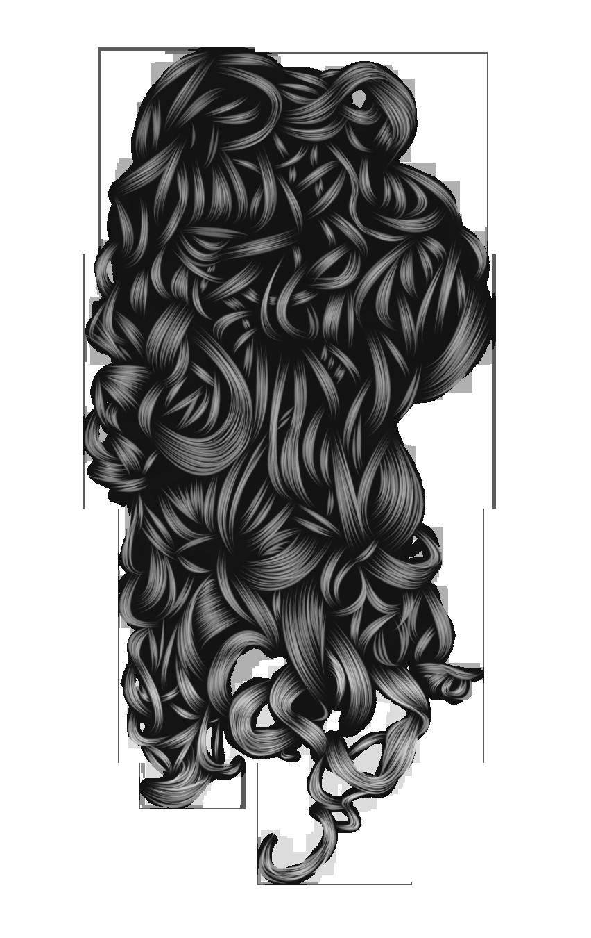Romantic Hair 3 Black by hellonlegs