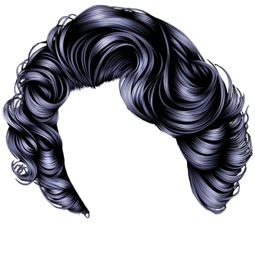 Short Black Curls by hellonlegs