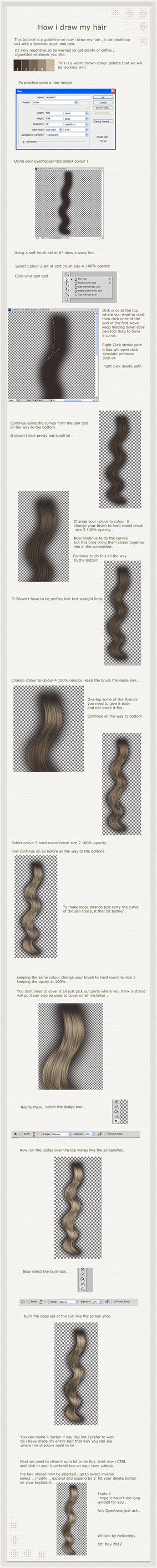 Hair Curl Tutorial by hellonlegs