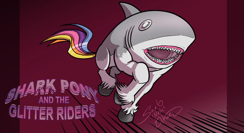 Sharkpony running Wallpaper by neilak20