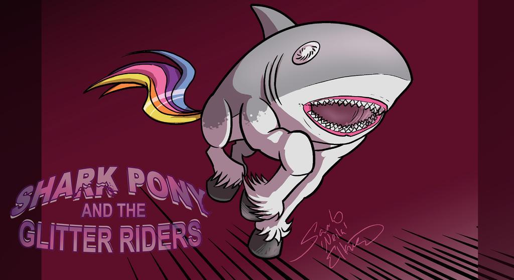 Sharkpony running Wallpaper