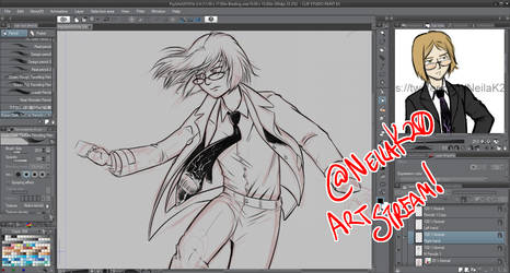 Art Stream Commission WIP Neila from The Facility by neilak20