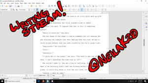 Writing Livestream on April 12th at 3pm central!