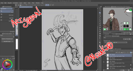 Art Stream TODAY, Mar 31st at 3pm Central