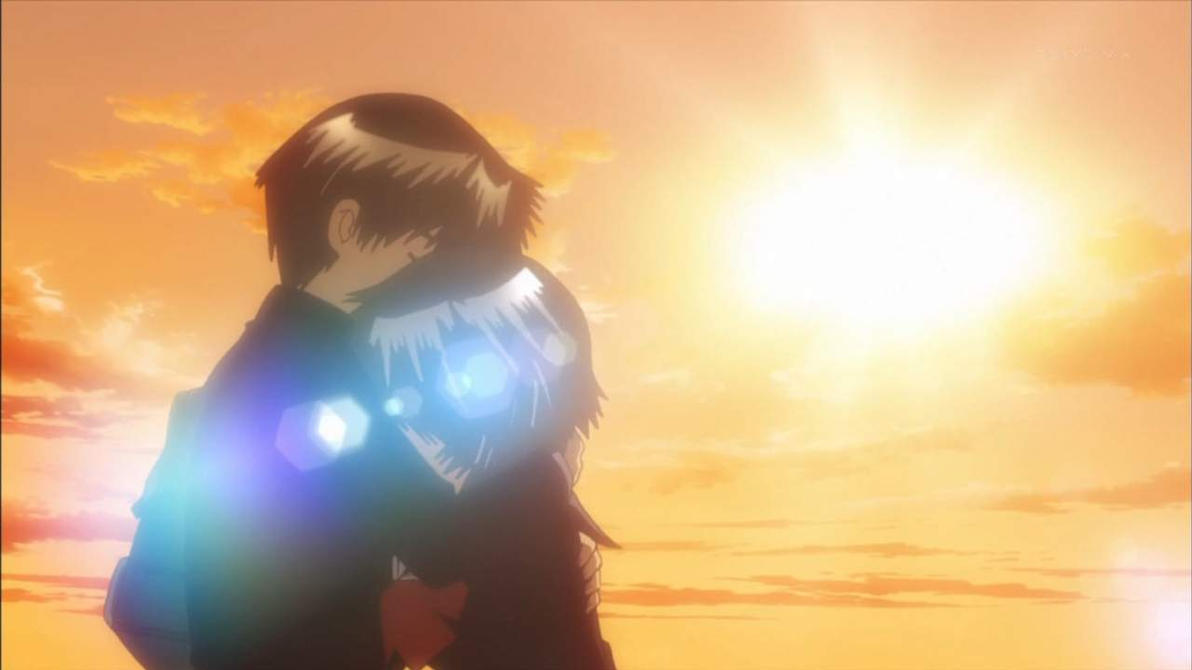 Nazo No Kanojo X Urabe And Tsubakis First Hug By Gamera68
