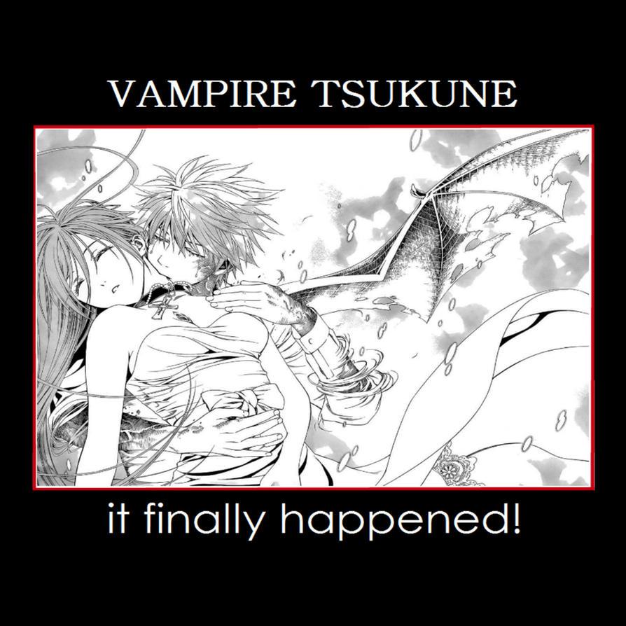 Rosario + Vampire: Tsukune Aono: Vampire by gamera68