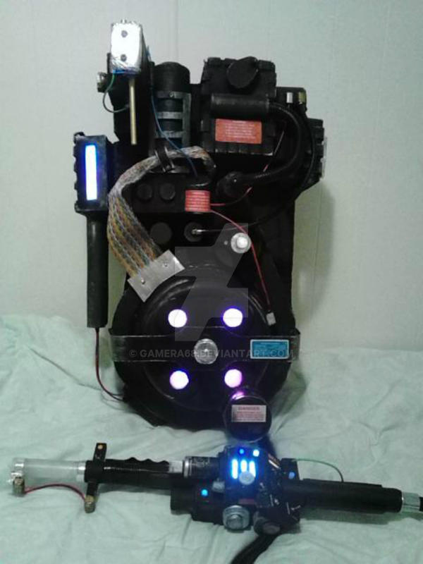 Scratch-built Ghostbusters Cardboard Proton Pack