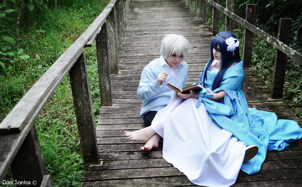 Reading some stories of Shakeaspeare together. by isamufivestars