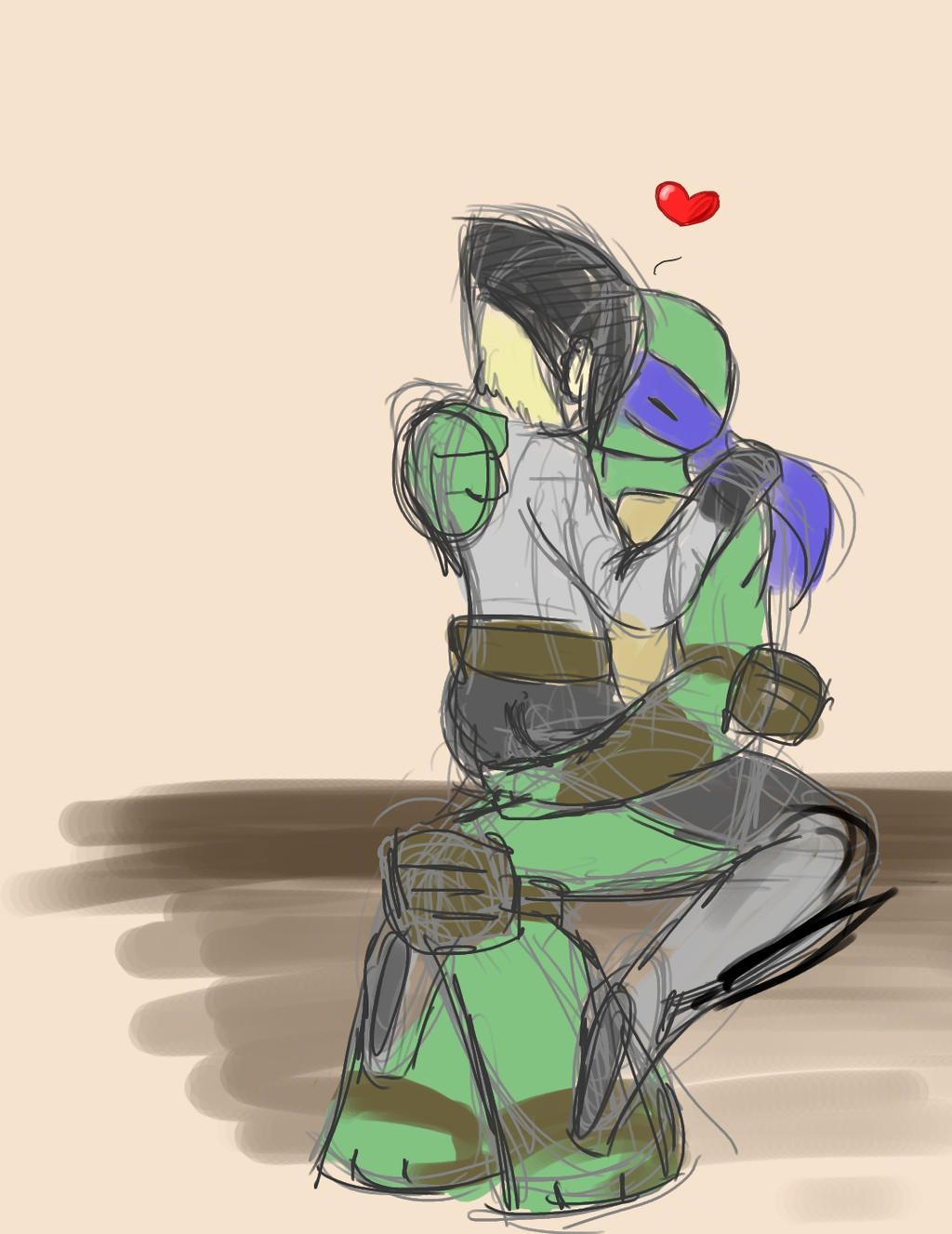 ninja turtles leonardo and karai