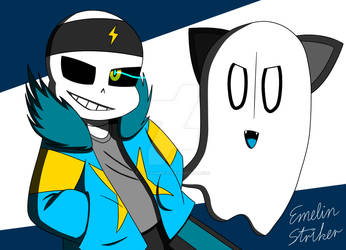 Double FIGHT - ST!Sans and ST!Napstablook