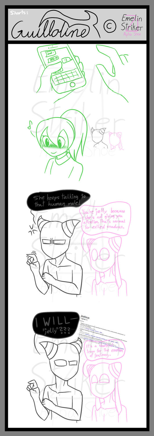 Guillotine: Comic Short #1 - Guilly is Jelly by GirlGamer121