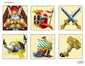 Viking Riches symbols by HillmanArts