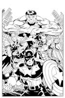 Avengers inked by HillmanArts
