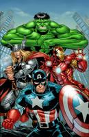 Avengers color by HillmanArts
