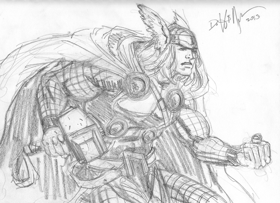 Thor doodle by HillmanArts
