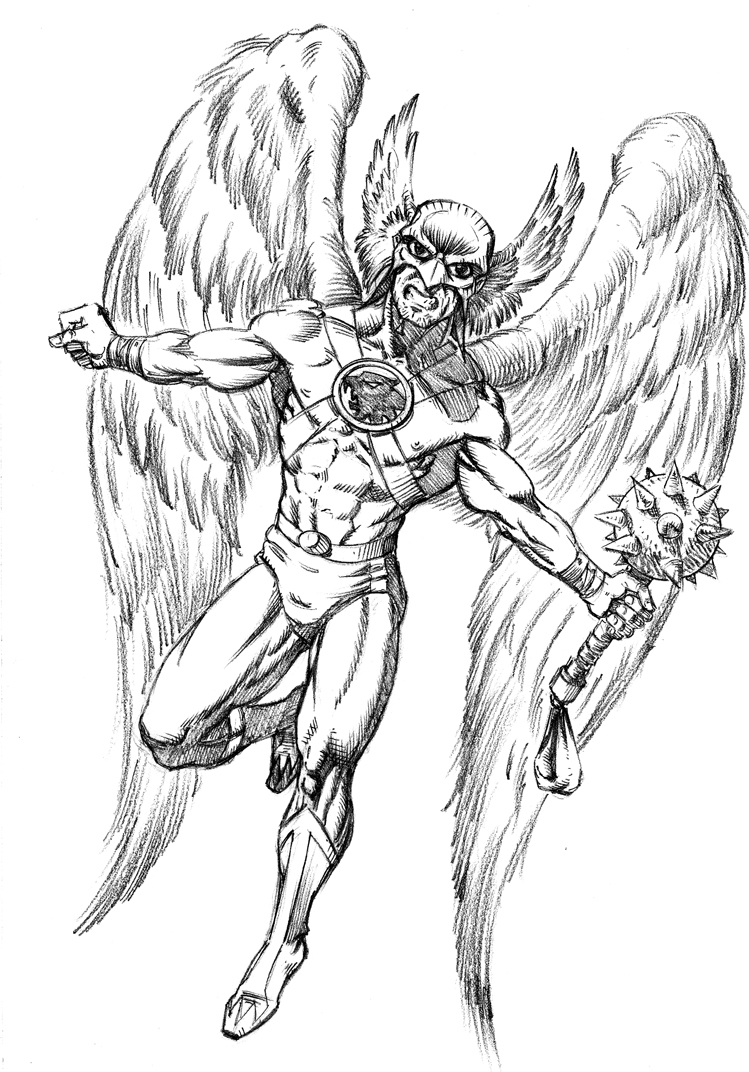 Hawk Man commission by HillmanArts