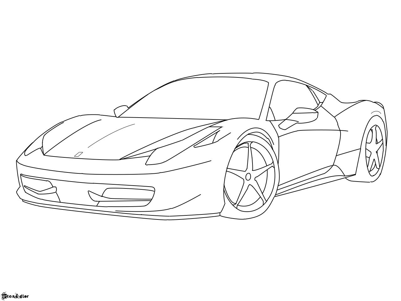 Ferrari 458 Italia Lineart By Etonadler On Deviantart