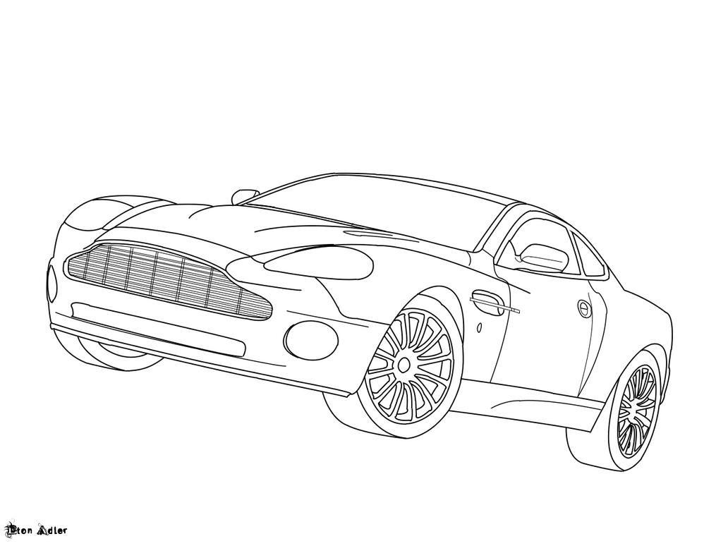 Aston Martin Vanquish Lineart By Etonadler On Deviantart