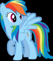Rainbow Dash Vector #01 by simplyFeatherbrain