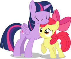 Vector Request (Twilight Sparkle + Apple Bloom) by simplyFeatherbrain