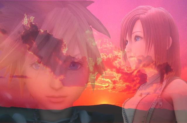 Sora and Kairi wallpap...