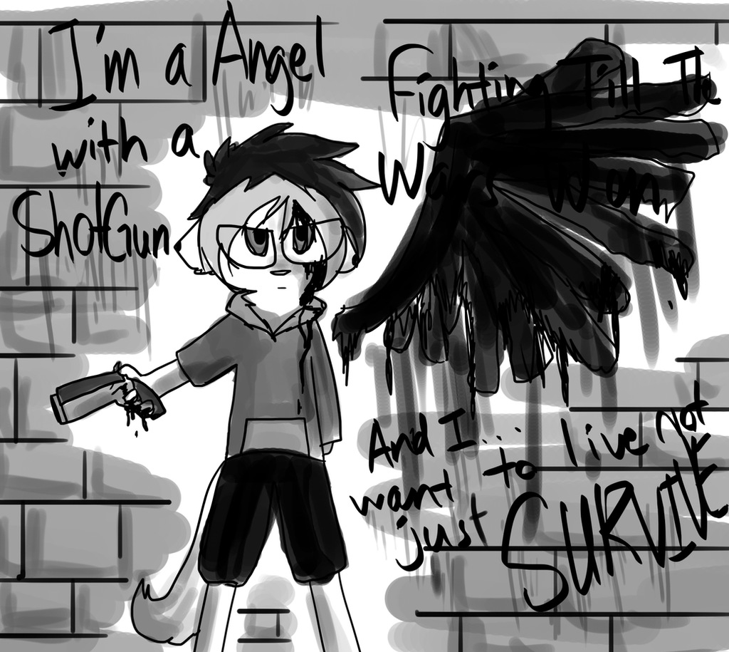 I'm An Angel With A Shotgun by EkoNecko on DeviantArt
