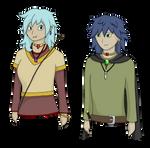 Kiayra and Ruka Portraits by DragonNightArt
