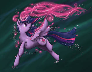 Twilight Sparkles by DragonNightArt