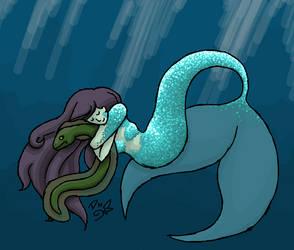 Mermaid Hugz by DragonNightArt