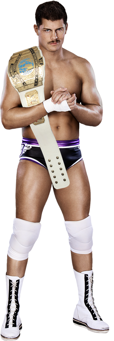 WWE Cody Rhodes With InterContinental Championship by