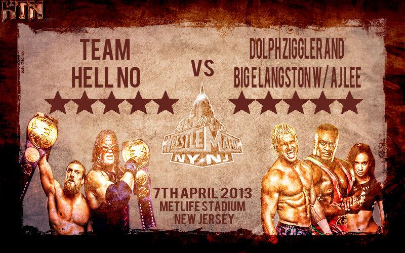 Team Hell No vs Dolph And Big E WM29 Retro Poster by HTN4ever