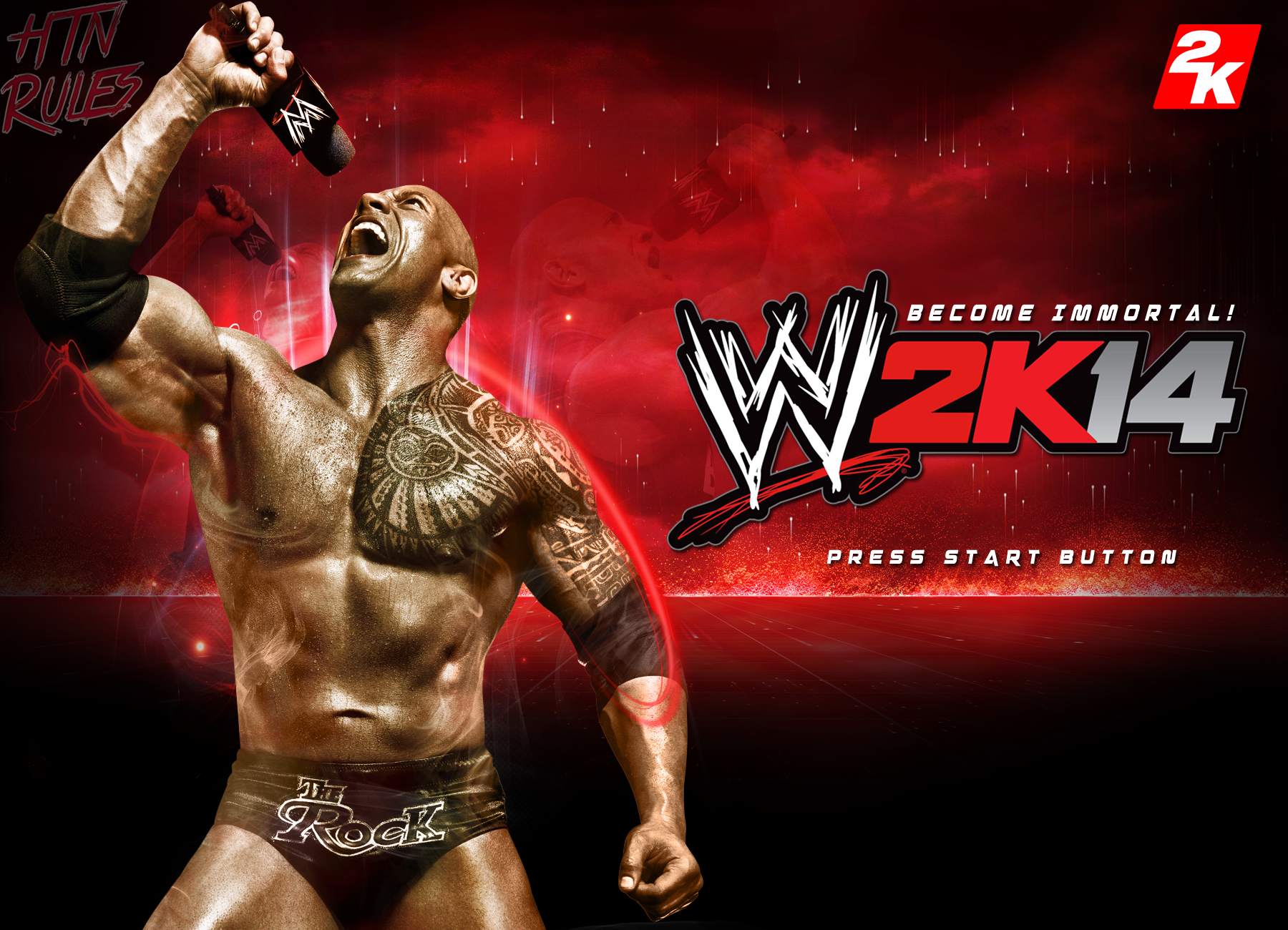 wwe 2k14 custom start up screen v2htn4ever on deviantart
