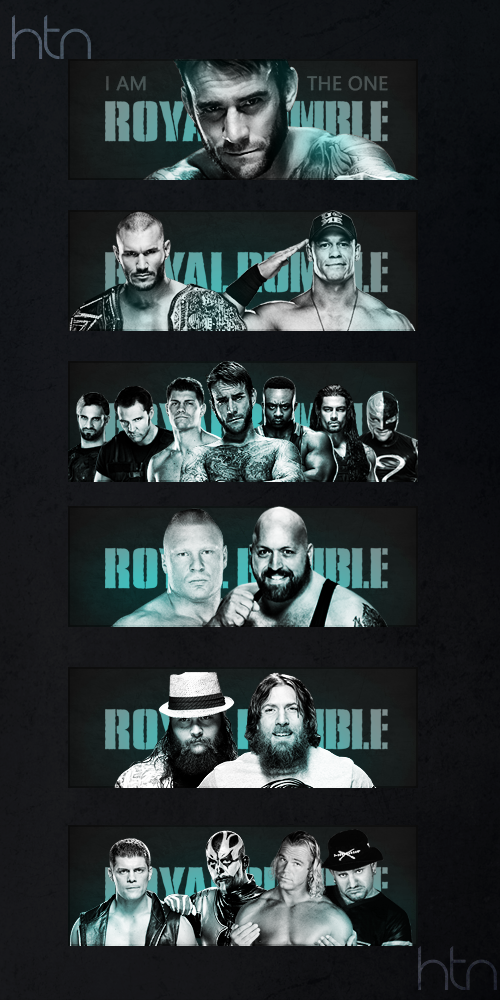 Royal Rumble 2014 Matchcards. by HTN4ever