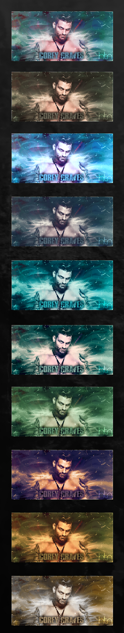 Bunch Of Corey Graves Signatures by HTN4ever