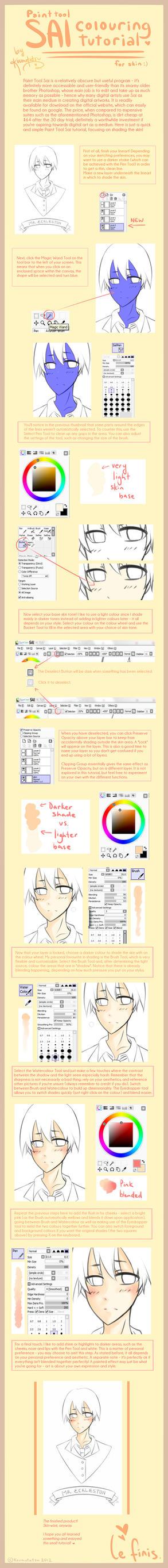 SAI: skin tutorial by koumotatsu