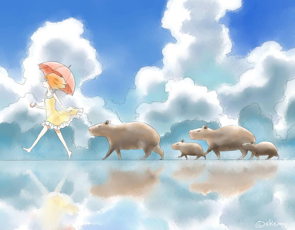 Capybara by xkeroppi