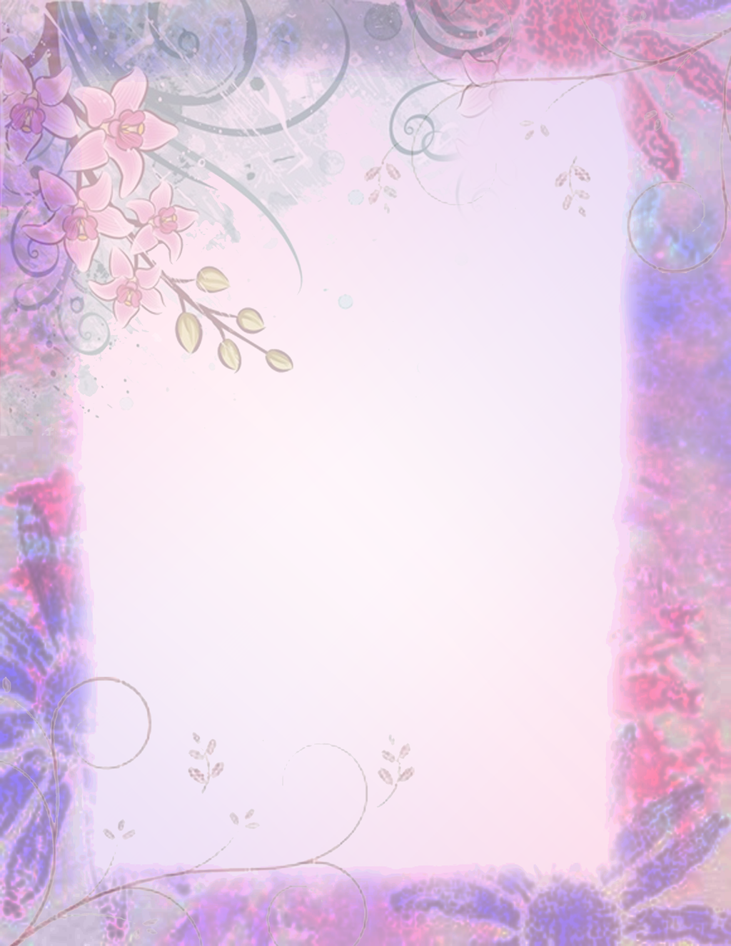 Flower border by XxHayBugxX on DeviantArt
