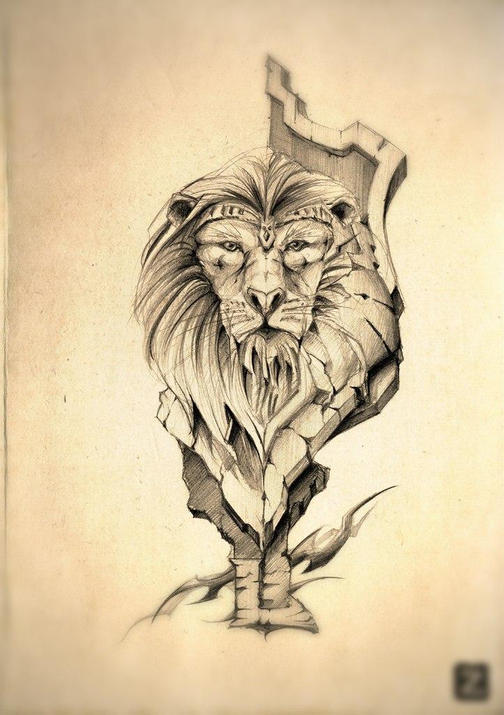 Lion tattoo by axsonart on DeviantArt
