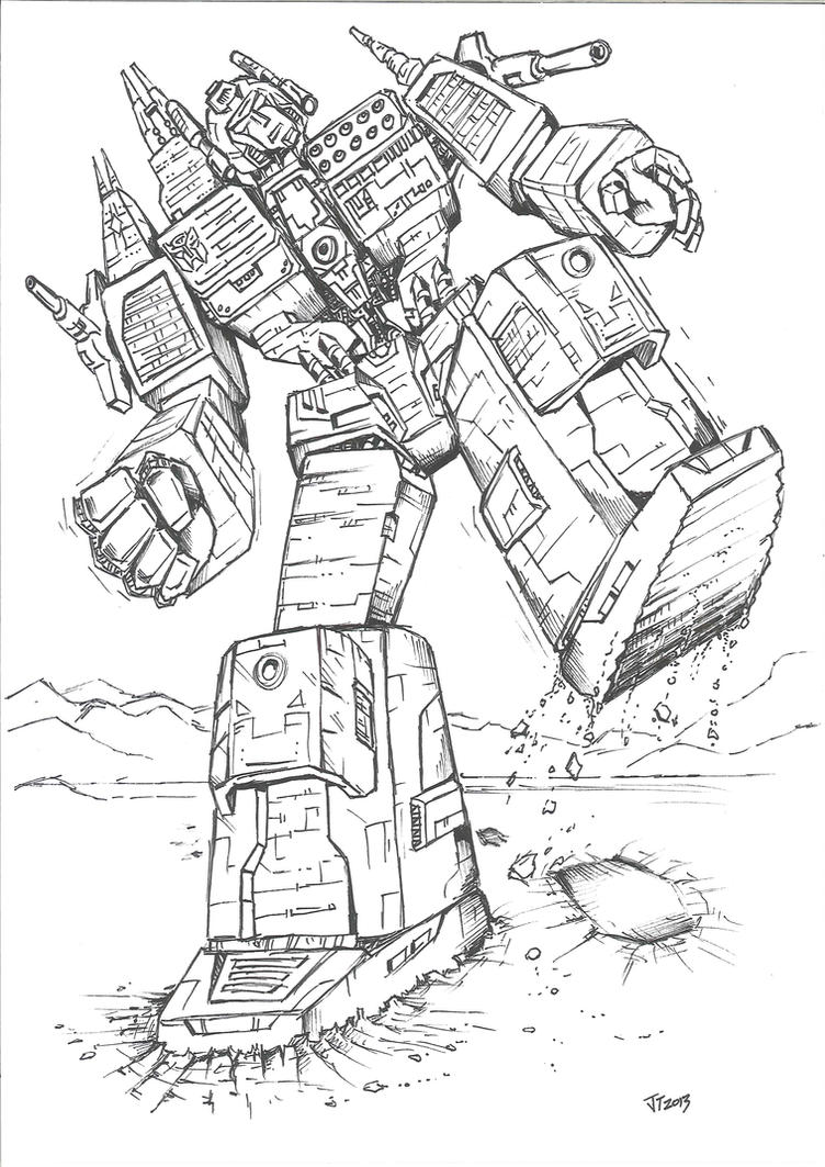 Transformers G1 Devastator Coloring