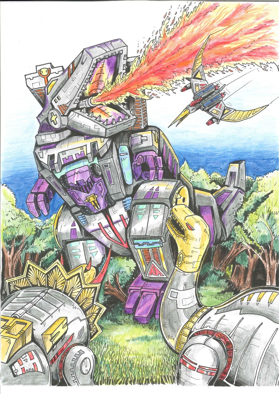 Dinobots Vs Trypticon colour