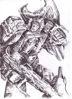 Hun-Grrr Biro Sketch by JoeTeanby