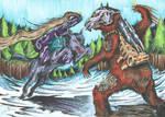 Carnivac Vs Chainclaw - coloured