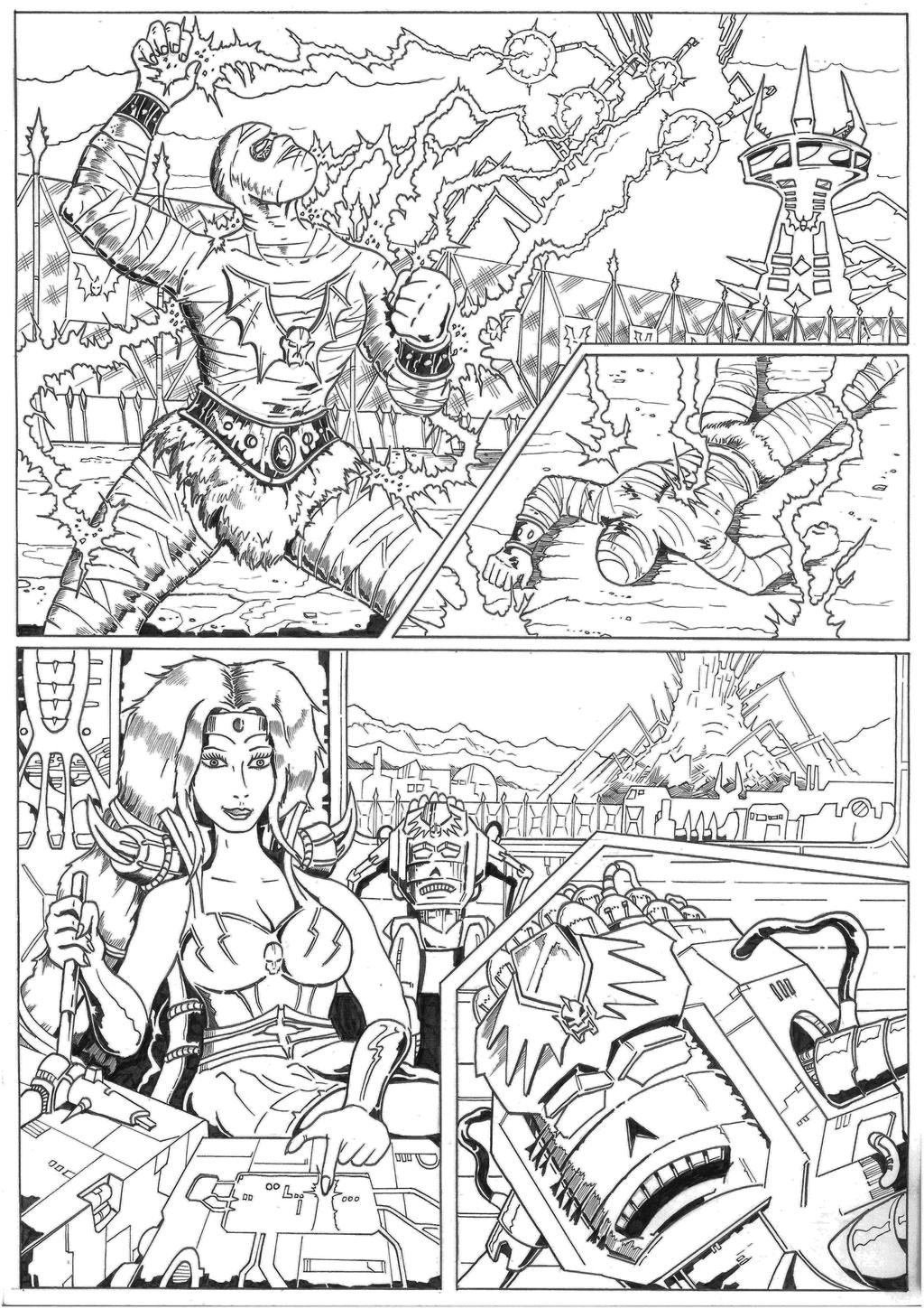 The Coming of the Towers page 6 inks