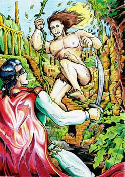 Zigomar v Tarzan - colour