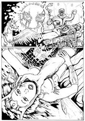 The Coming of the Towers page 40 inks