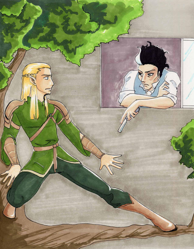 Roommates: Legolas and Sweeney by AsheRhyder